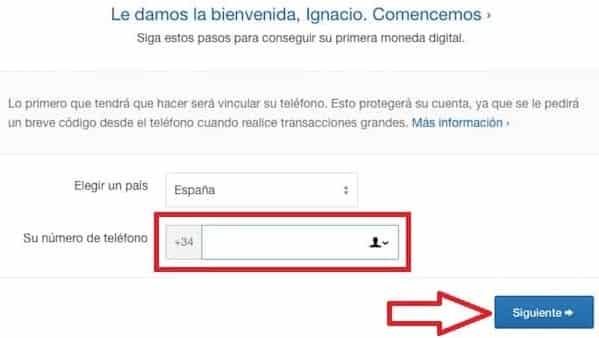 Verificar Teléfono Comprar Criptomoneda Guía Coinbase
