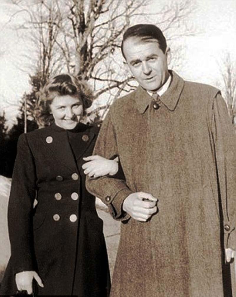 Eva Braun and Albert Speer.