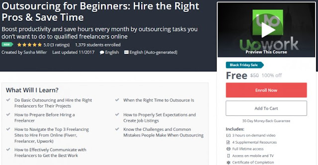 [100% Off]  Outsourcing for Beginners: Hire the Right Pros & Save Time| Worth 50$