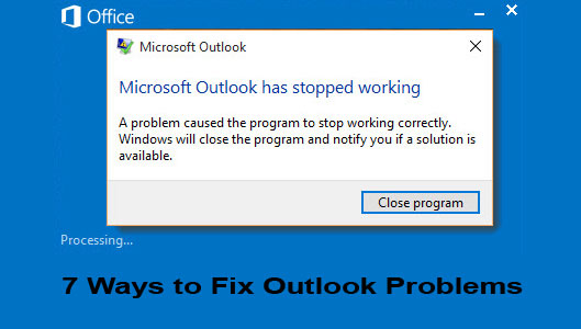 outlook stop responding