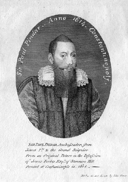 An engraving of Sir Paul Pindar From The Peter Miller Collection