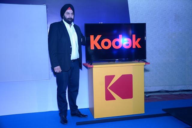 Mr. Avneet Singh Marwa, Director, SPPL, launching Kodak TV India