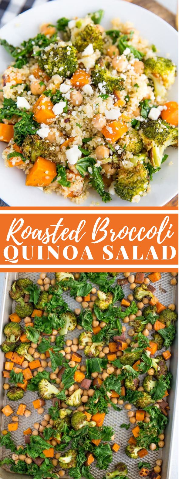 Roasted Broccoli Quinoa Salad #vegetarian #lunch