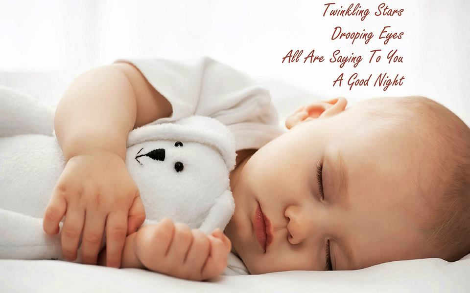 Cute Good Night Baby Image
