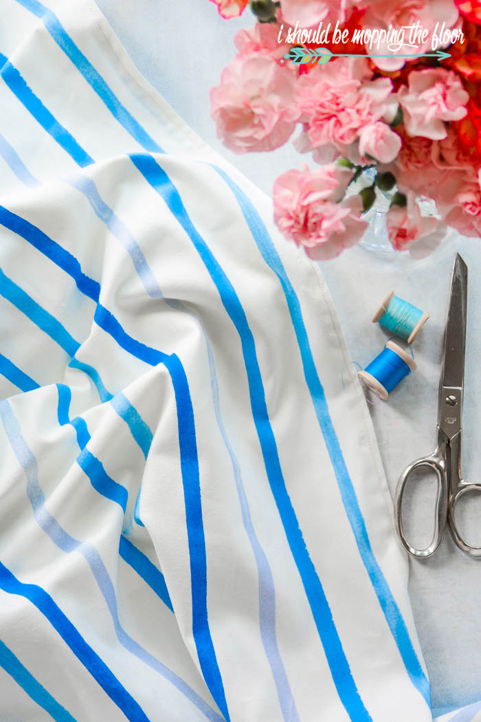 Laura Ashley Painterly Stripe Fabric