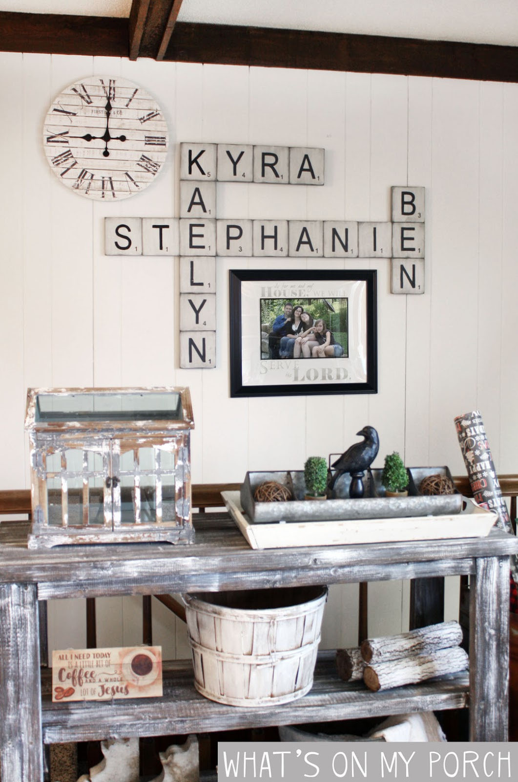 What S On My Porch Diy Scrabble Tile Wall Decor
