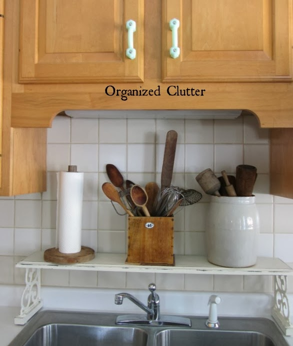 Over the sink decor www.organizedclutterqueen.blogspot.com