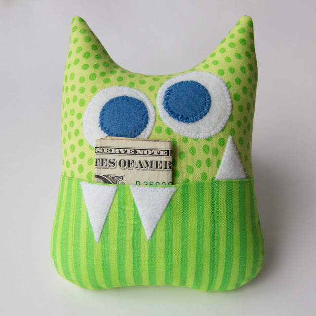 March 12 Little Monster Tooth Fairy Pillow