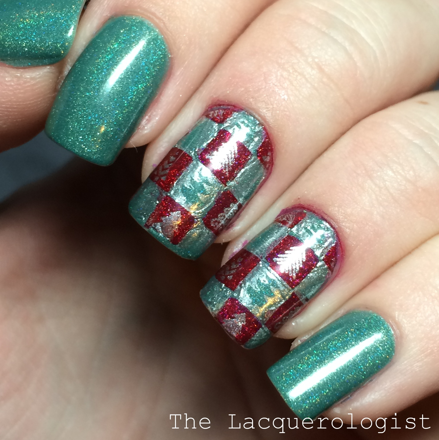 Wrapping Paper Nails inspired by Copy Cat Nails! • Casual Contrast