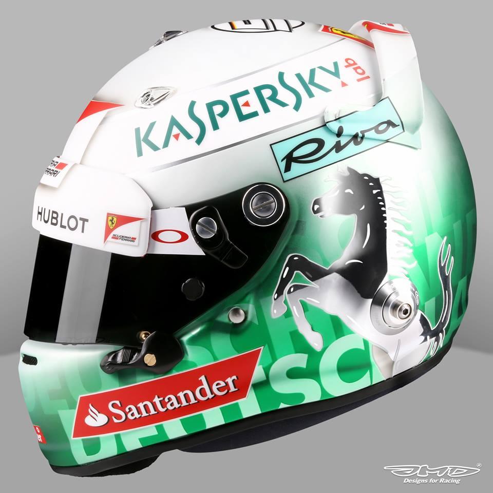 racing helmets garage arai gp 6 s vettel hockenheim 2016. Black Bedroom Furniture Sets. Home Design Ideas