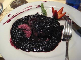 Blueberry filet mignon