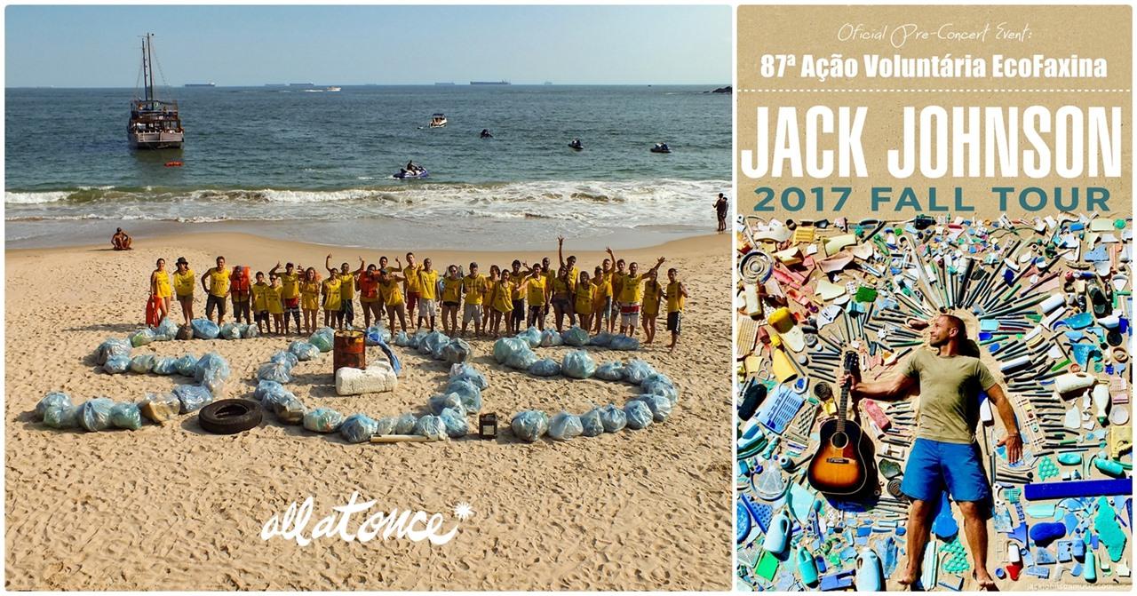 Instituto EcoFaxina recebe o apoio do músico Jack Johnson