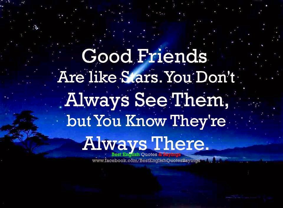 Quotes About Good Friends: Inspirational Quotes For Life: Good Friends Are Like Stars