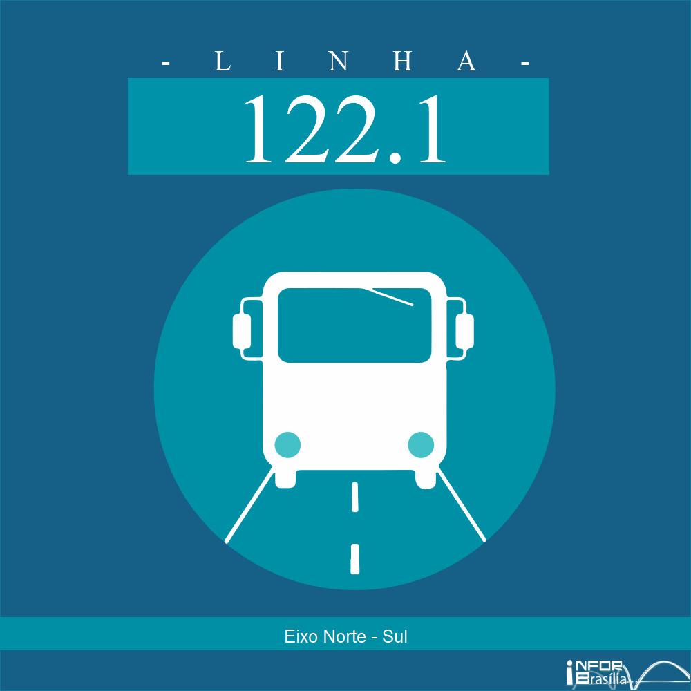 Horário de ônibus e itinerário 122.1 - Eixo Norte - Sul