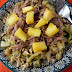 Kalua Pig, Pineapple, and Cabbage Salad