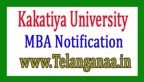 Kakatiya University MBA Exam Fee Notification