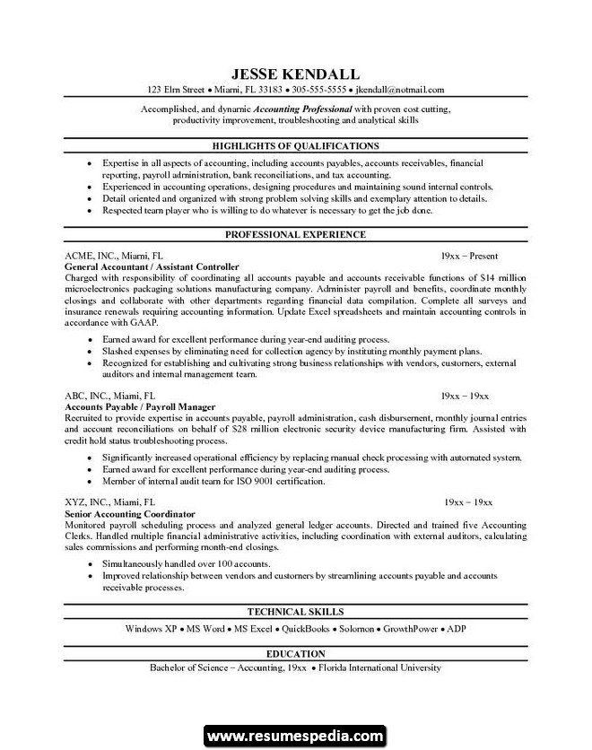Assistant Accountant Resume Format In Indian | Free Cover ...