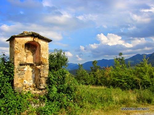 Il paesaggio  boscoso dell'appennino nei dintorni di Porretta Terme