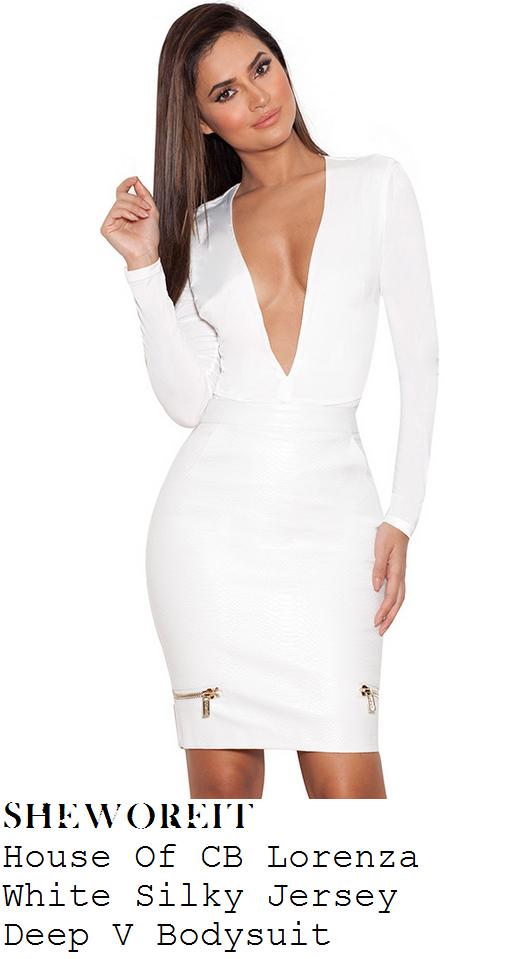 joanna-krupa-white-plunge-front-bodysuit-top