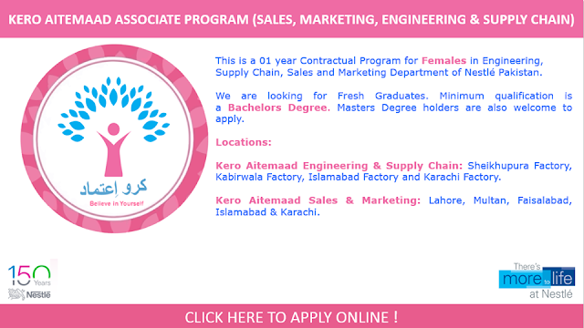 NESTLE Jobs in Pakistan 2016 for Female Jobs