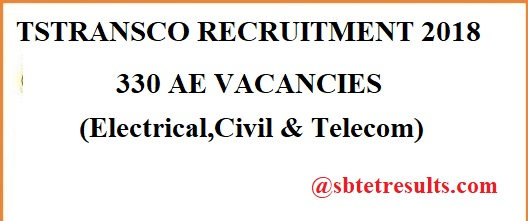 TSTRANSCO RECRUITMENT 2018,AE VACANCIES, Assistant engineer,Electrical posts,Civil posts, Telecom posts