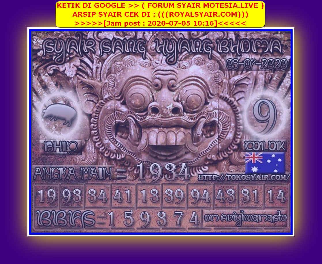 Kode syair Sydney Minggu 5 Juli 2020 123