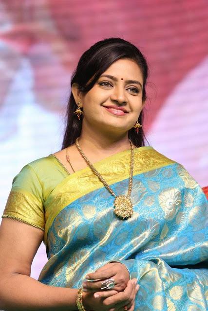 Indraja Stills At Sathamanam Bhavathi Movie Audio Launch
