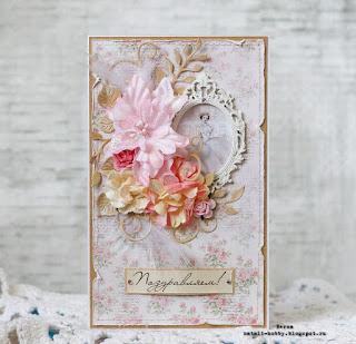 розовый, рамка, цветы