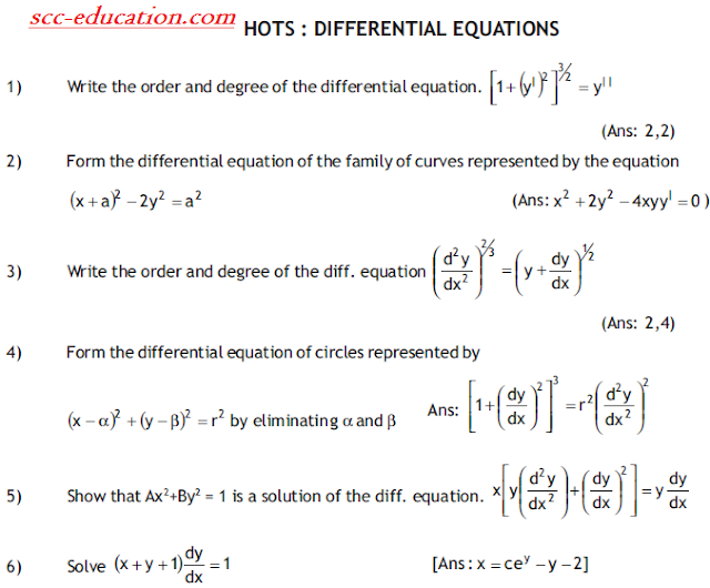 Important Questions for Differential equation,maths ,notes for applied mathematics,polytechnic mathematics,free study material for polytechnic,