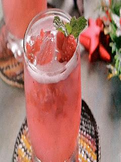 Gambar Resep Minuman Segar Sparkling Raspberry