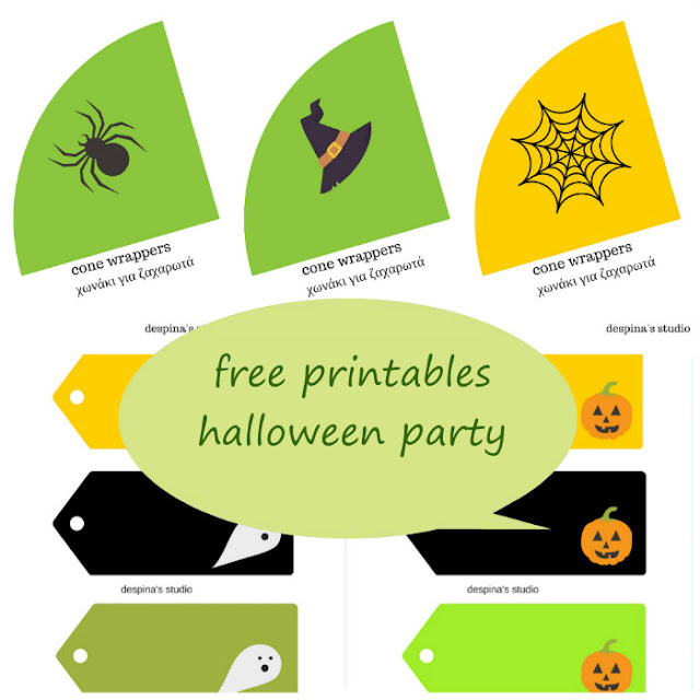 Halloween party Free Printables set