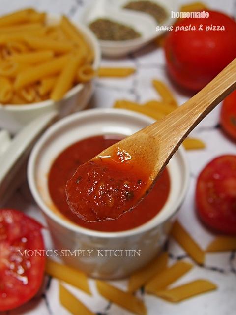 Cara Membuat Saus Tomat : membuat, tomat, Homemade, Pasta, Pizza, Monic's, Simply, Kitchen