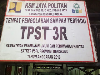 TPS 3R Jaya Politan Desa Tambak Rejo Padang Jaya