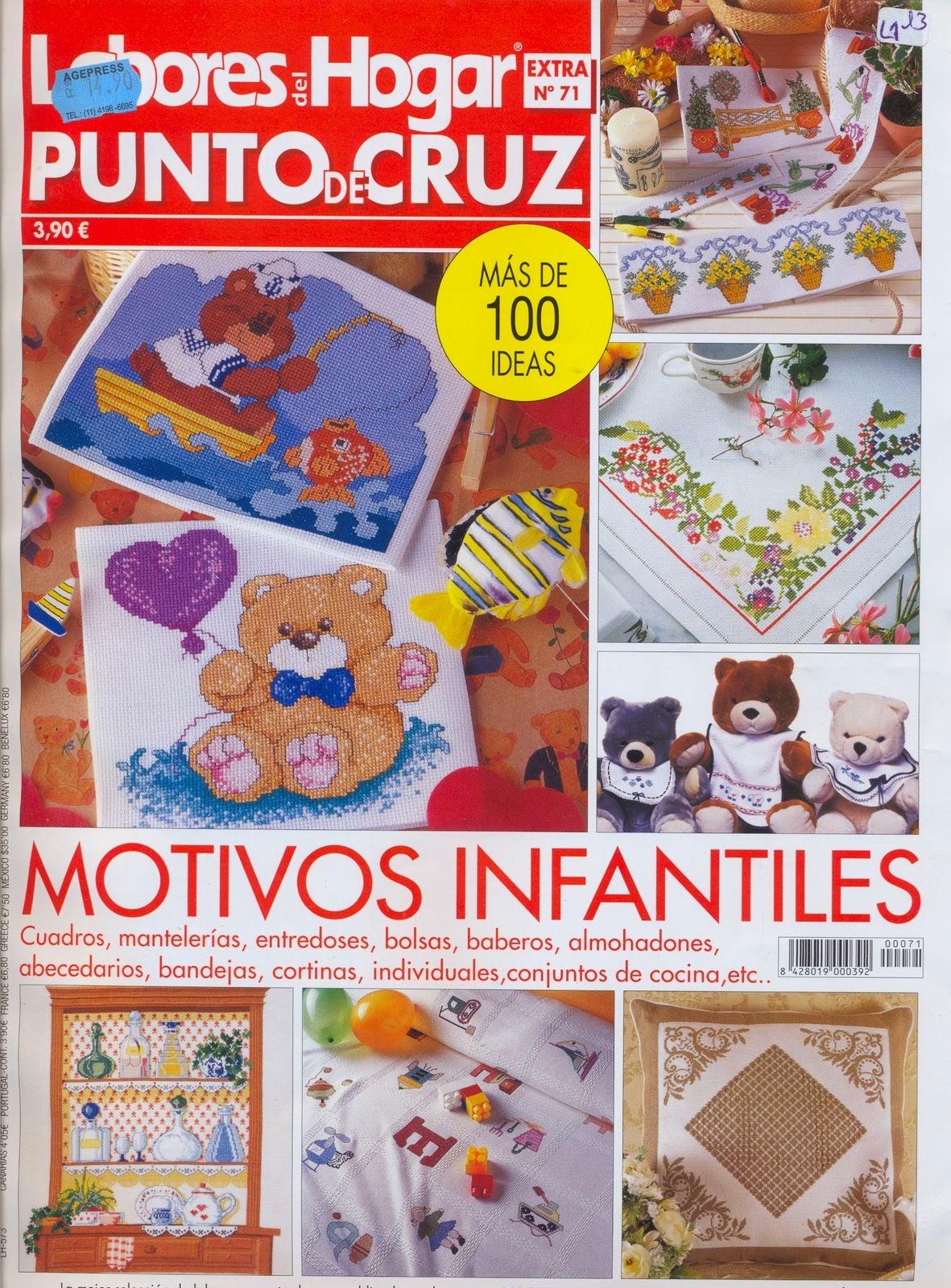 Labores para el hogar - Punto de Cruz - Revistas de manualidades Gratis