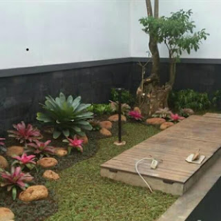 Tukang Taman minimalis gaya Bali murah | Taman depan | TAMAN BELAKANG RUMAH
