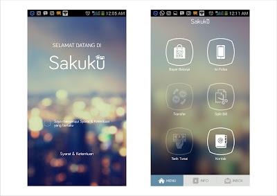 Tampilan aplikasi SAKUKU didalam smartphone ZTE