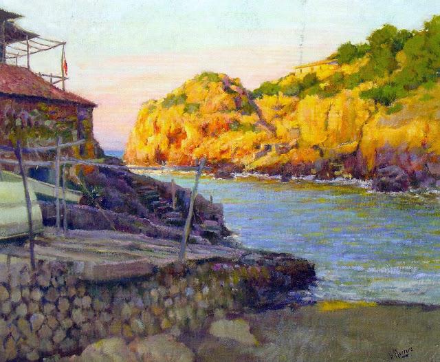 Vicente Herrero Catala, Cala Deiá, Mallorca en Pintura, Mallorca pintada, Paisajes de Mallorca