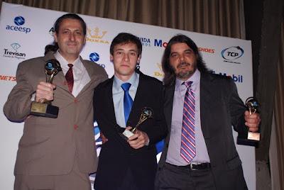 Ginaldo Vasconcelos (Rádio Coringão), Gabriel Dias (Rede Contínua) e Andre Nery (Rádio Verdão)