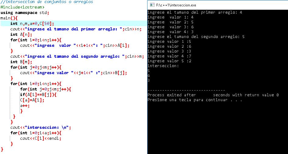 Solución De Algoritmos Código C Y Java Intersección De