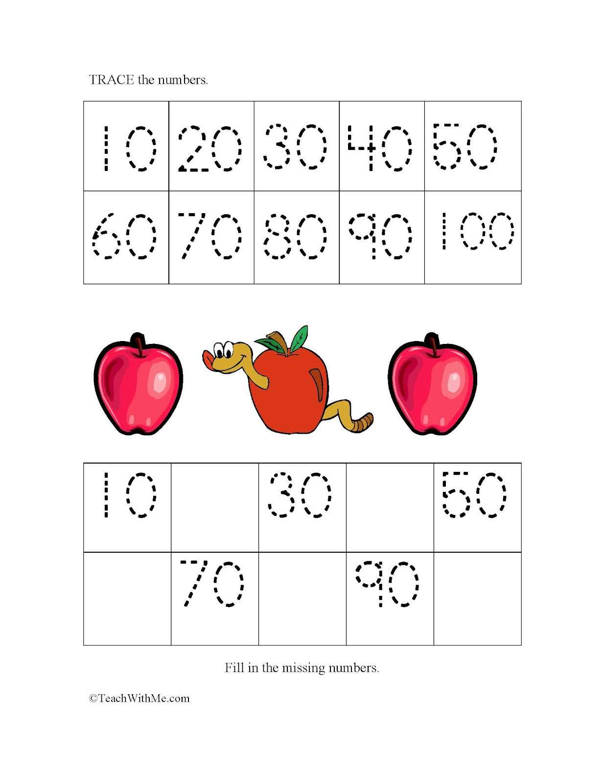 Monthly Skip Counting Skill Sheets