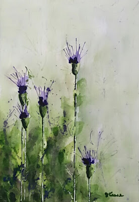 Texas Thistle Watercolor - JKeese