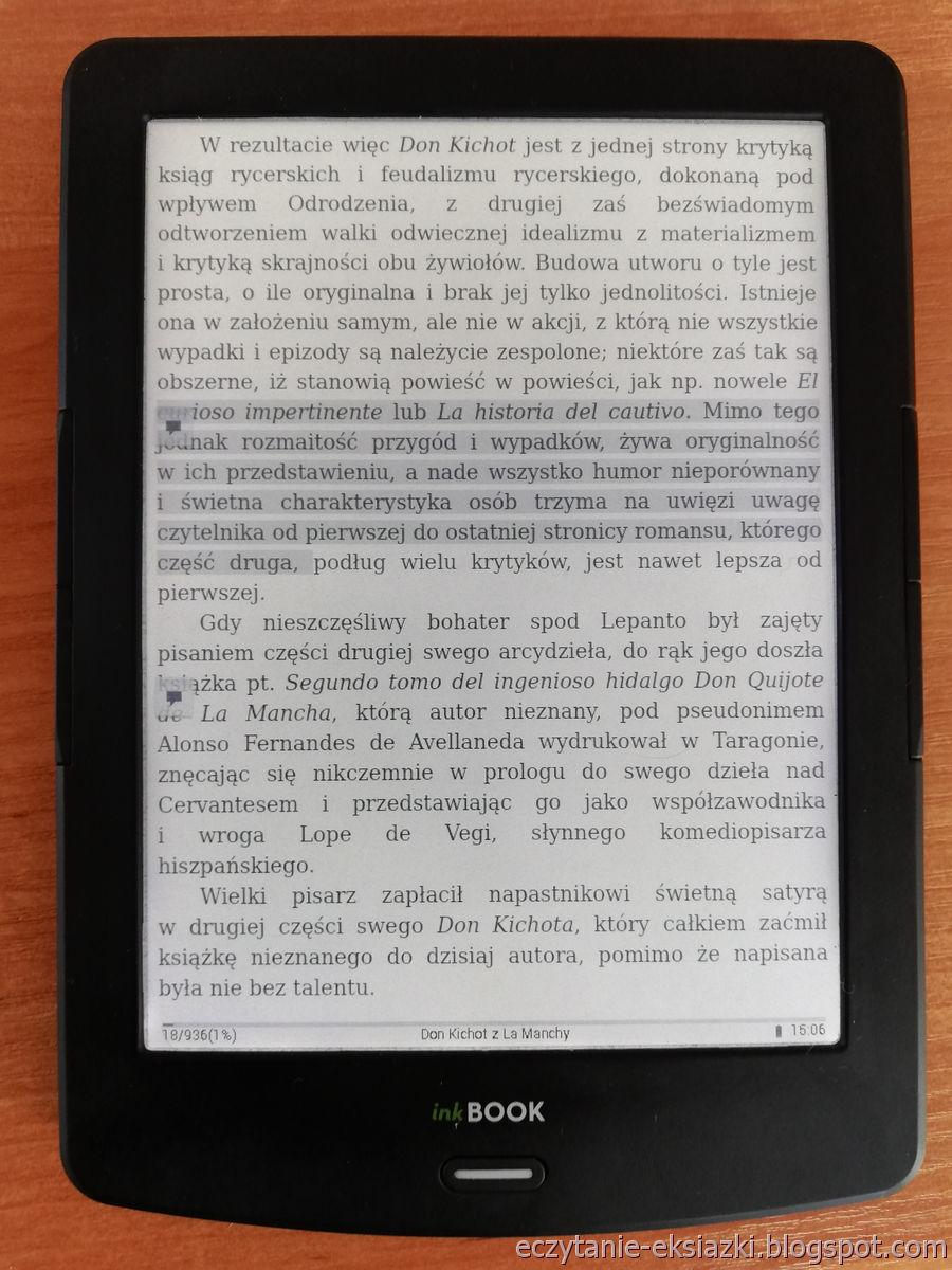 PocketBook Reader na InkBOOK LUMOS – dodane zaznaczenie z notatką