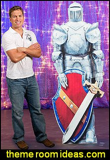 Fantasy Knights Suit of Armor Standee Medieval theme party props decorating medieval themed party