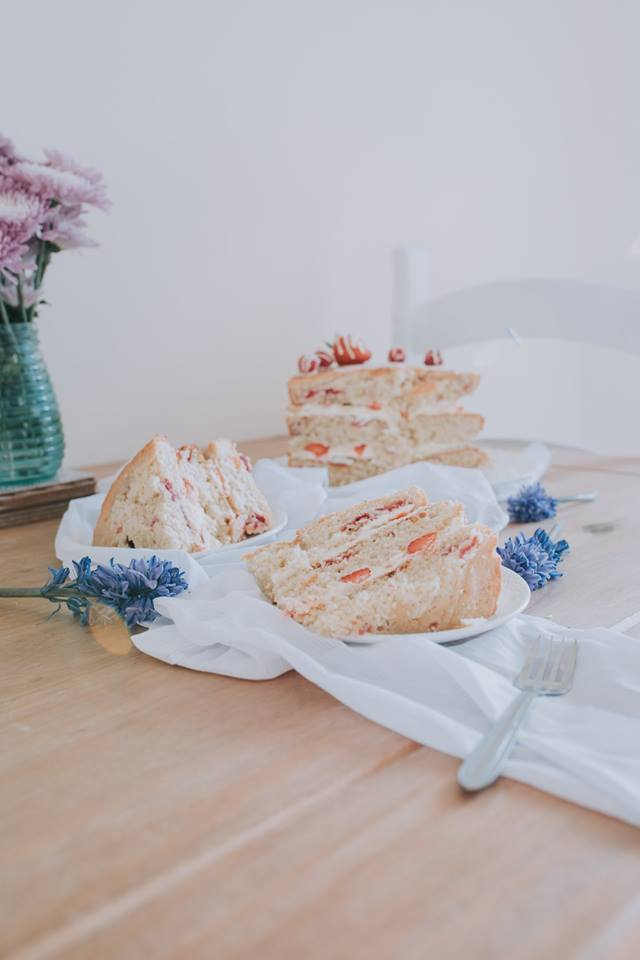 White Chocolate And Summer Berry Layer Cake