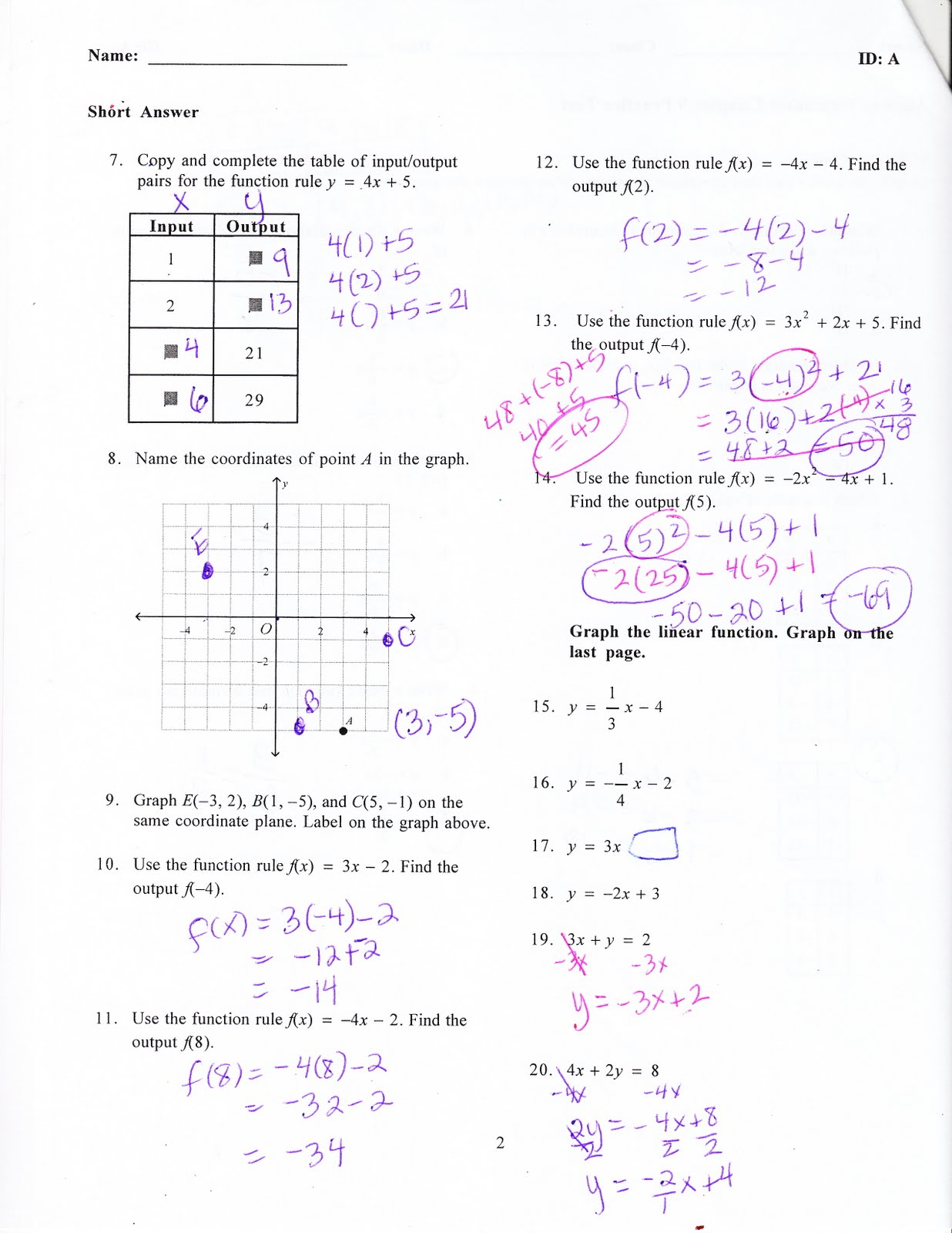 Ms Jean S Algebra Readiness Blog Chapter 8 Practice Test Answers