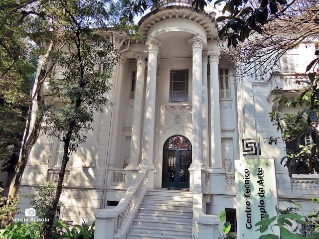 Fachada do Palacete Chucri Assad - Ipiranga - São Paulo