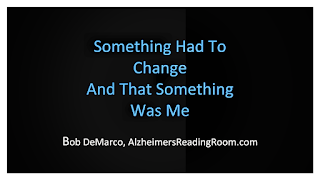Change is an important aspect of effective dementia care.