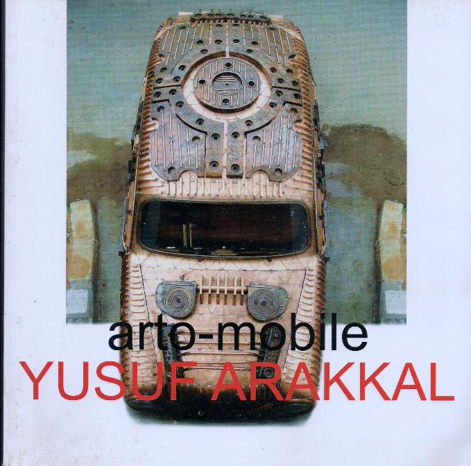 Yusuf Arakkal's catalog cover on Art Car