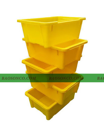 thùng nhựa đặc A4 xếp chồng