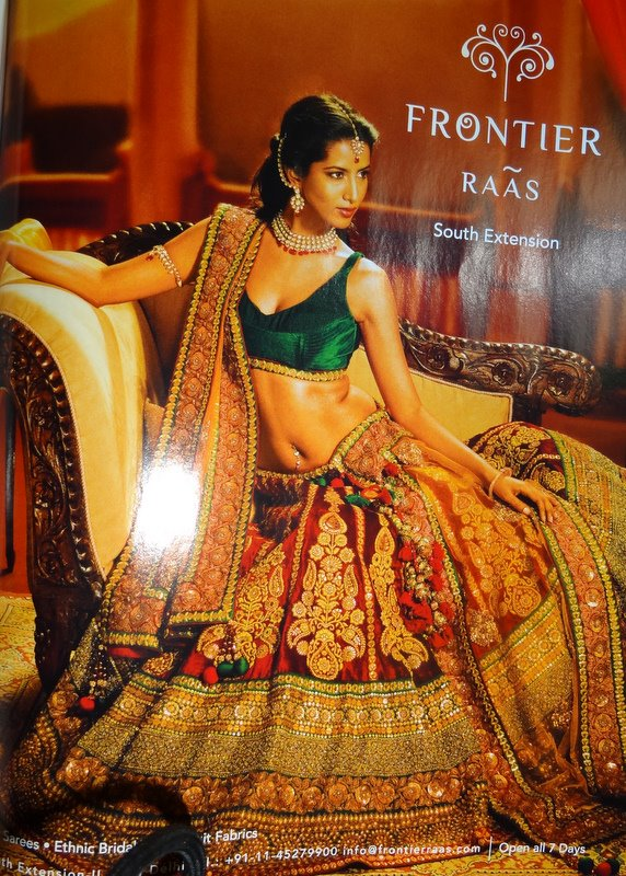 482954f232a A Bridal Lehenga from Frontier Raas- I actually tried this one but it was  out of budget(2 lakhs) and tooo heavy for me!